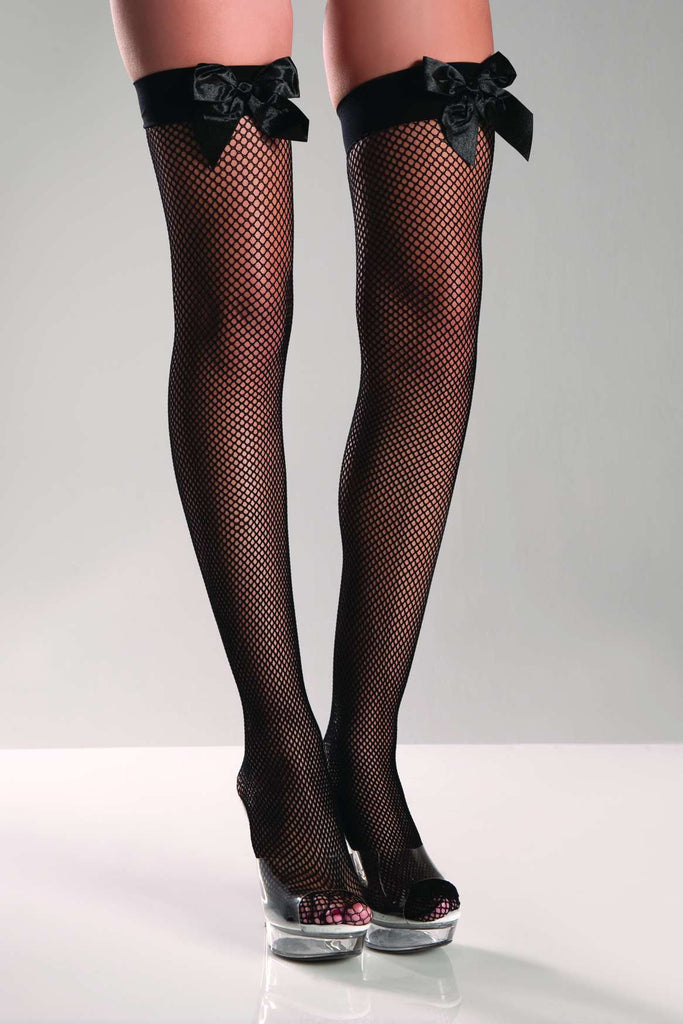 BW509 Be Wicked Fishnet Stocking With Bows