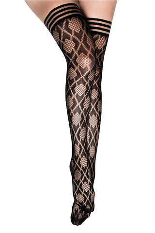 Kix'ies Diamond Flush Thigh Highs