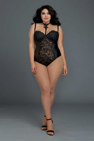 Plus Size Venetian Teddy