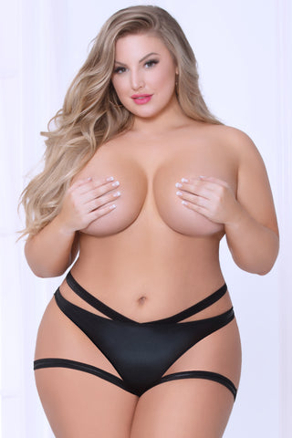 Plus Size Strappy Panty