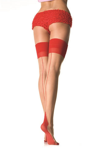 Red Two Tone Thigh Highs