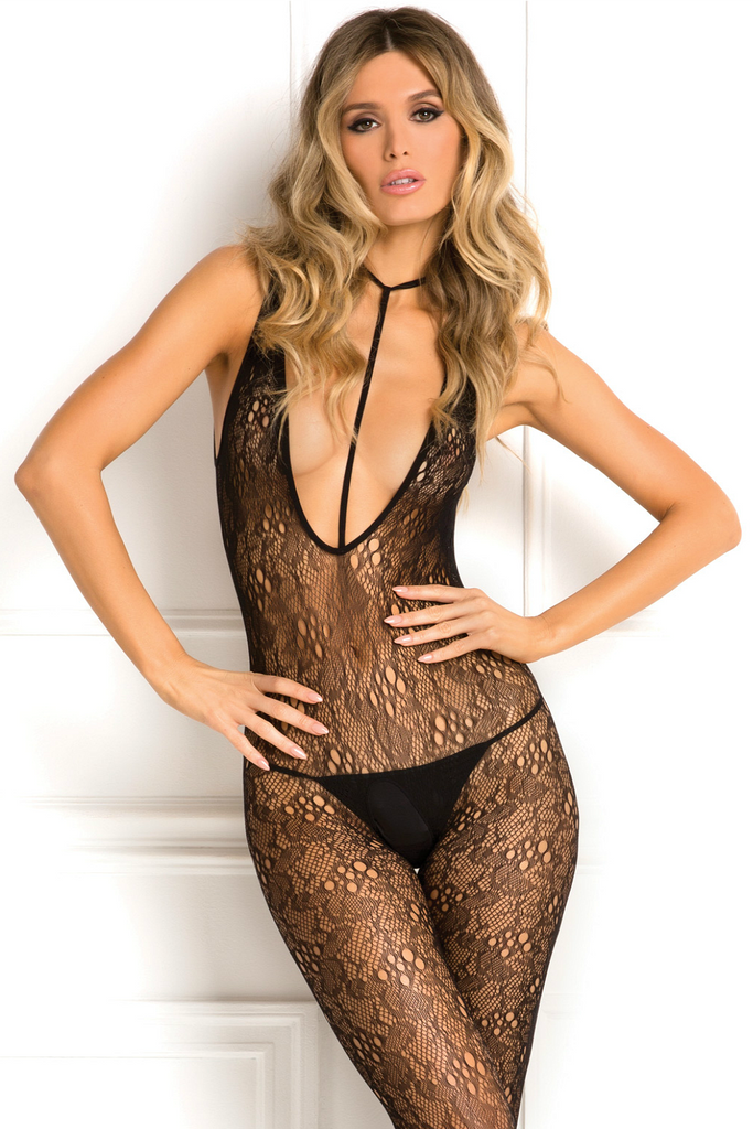 Black Net Harness Body Stocking