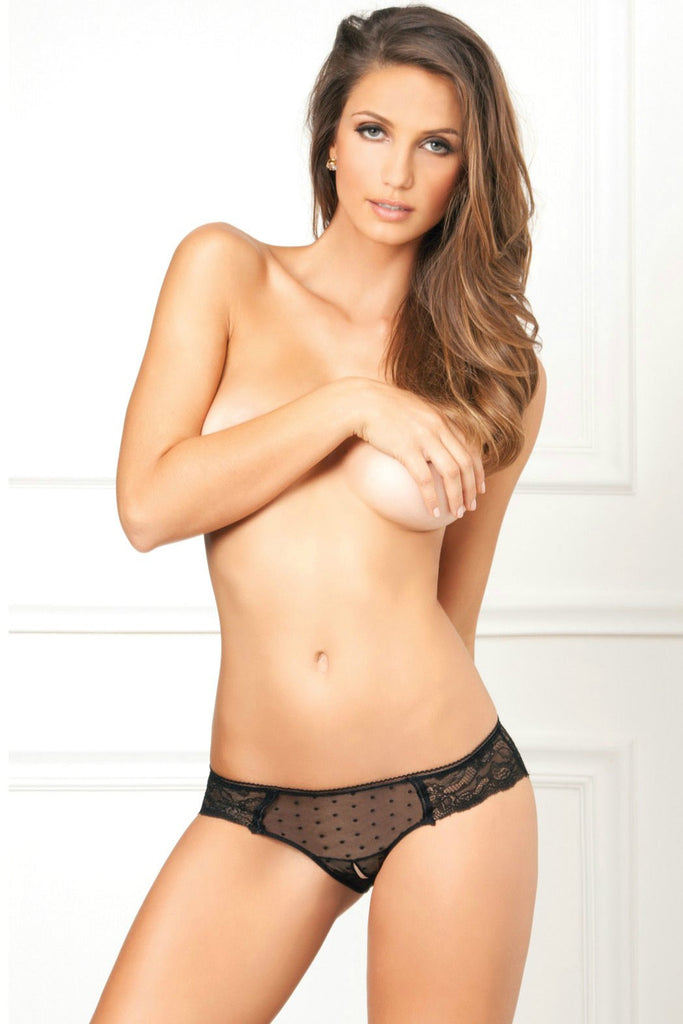 Black Lace and Polka Dot Panty