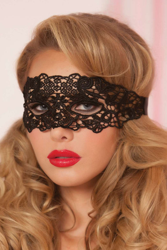 STM4013 Seven Tiil Midnight Black Lace Eye Mask