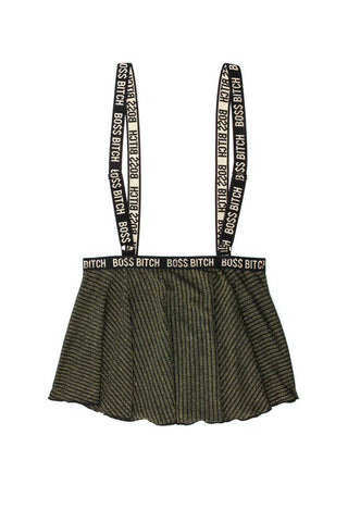 Boss Bitch Suspender Skirt