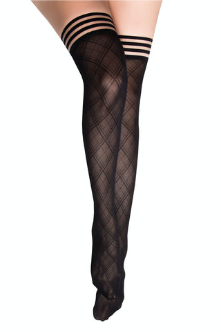 Kix'ies Diamond Top Thigh Highs