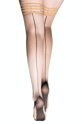 Kix'ies Cuban Heel Thigh Highs With Seam