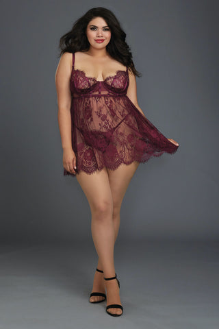 Plus Size Open Heart Panty