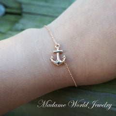 Plain Anchor Bracelet