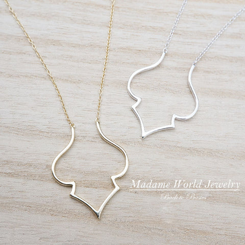 Plain Abstract Shape Necklace