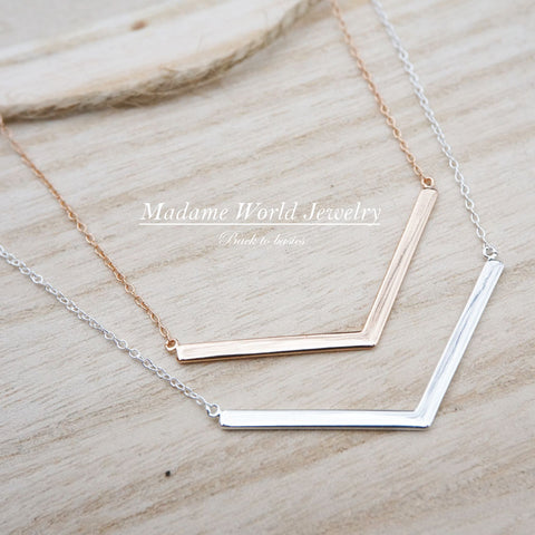 Plain Chevron Necklace