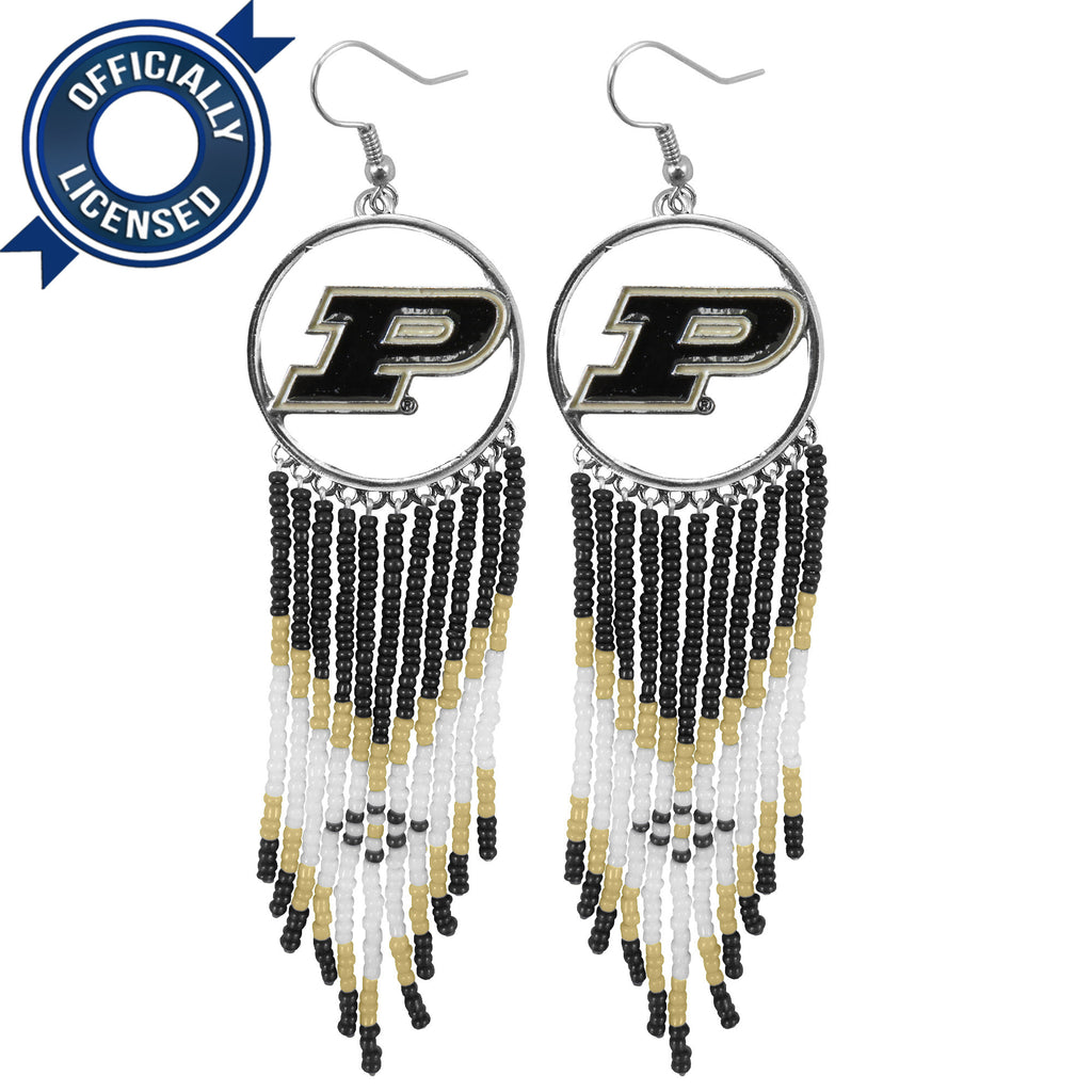 Officially Licensed Purdue University Dreamcatcher Earring