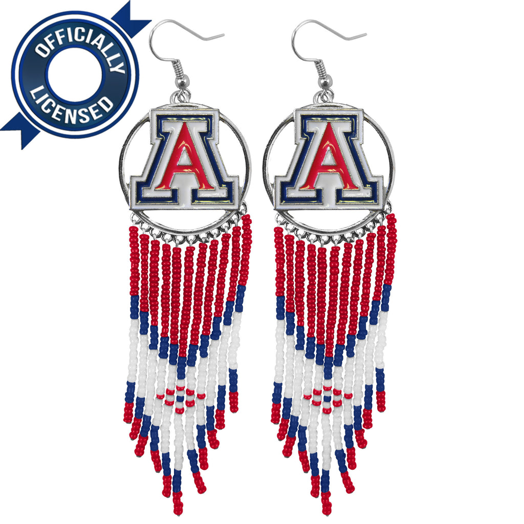 Officially Licensed Arizona University Dreamcatcher Earring