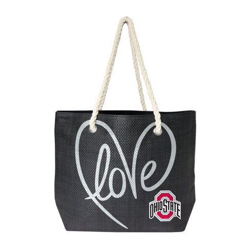 Just Released!  Officially Licensed Ohio State Buckeye Rope Tote
