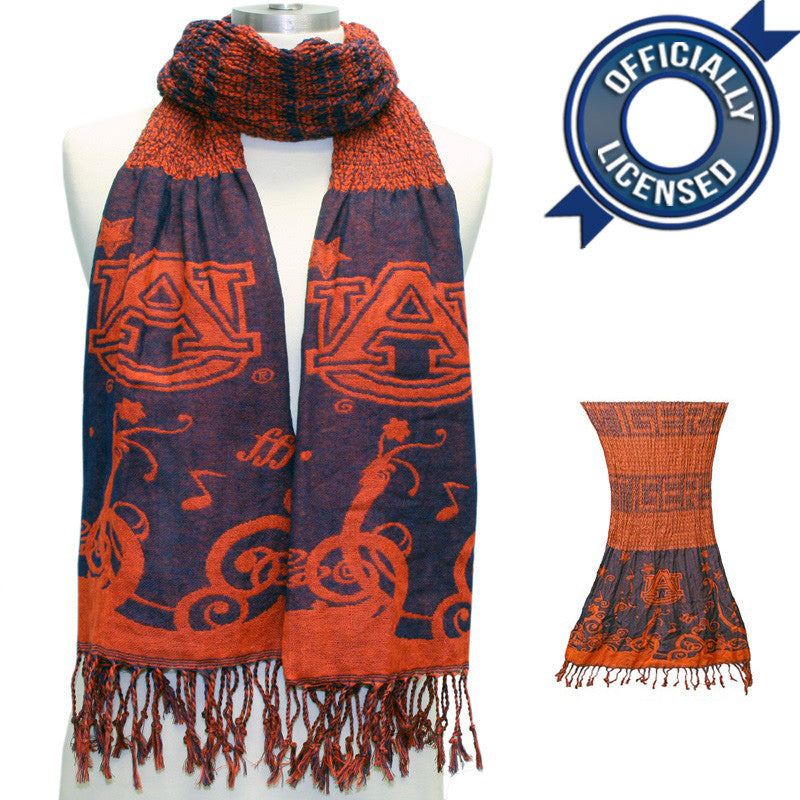 Officially Licensed Auburn Crinkle Scarf