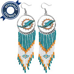 Officially Licensed Miami Dolphins Dreamcatcher Earring