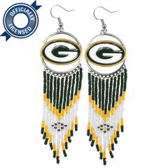 Officially Licensed Green Bay Packers Dreamcatcher Earring