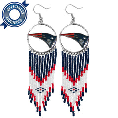 Officially Licensed New England Patriots Dreamcatcher Earring