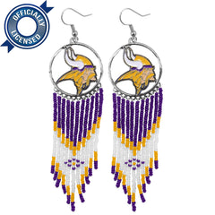 Officially Licensed Minnesota Vikings Dreamcatcher Earring