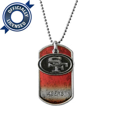 Officially Licensed San Francisco 49ers Dog Tag Necklace