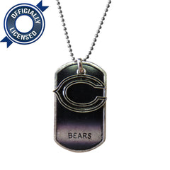 Officially Licensed Chicago Bears Dog Tag Necklace