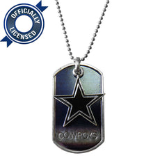 Officially Licensed Dallas Cowboys Dog Tag Necklace