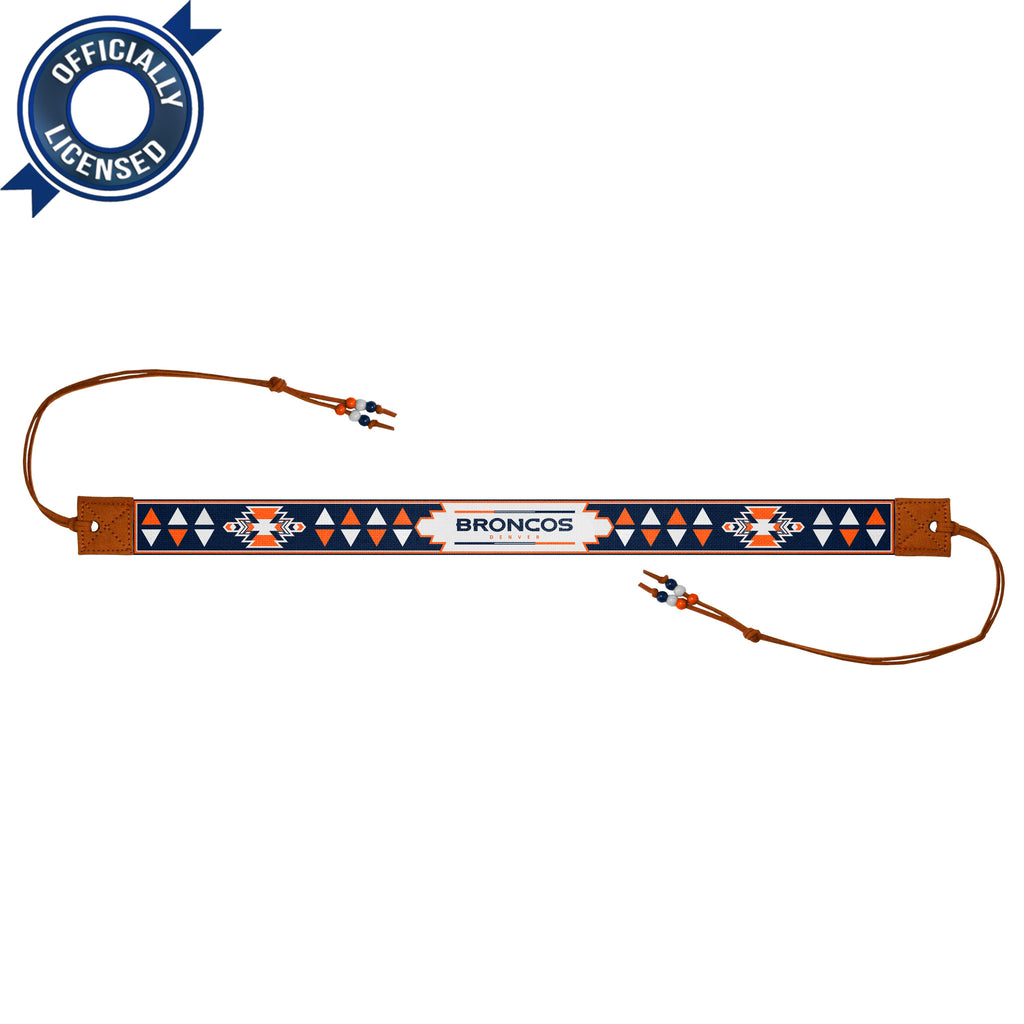 Limited Edition, Officially Licensed Denver Broncos Beaded Headwrap