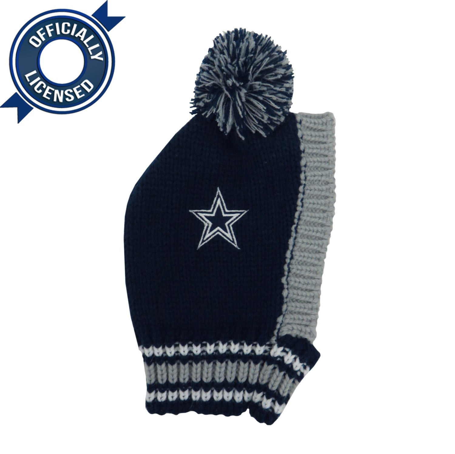 Officially Licensed Dallas Cowboys Pet Knit Hat Sandman Shop