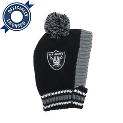 Officially Licensed Oakland Raiders Pet Knit Hat