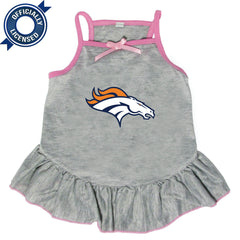 Officially Licensed Denver Broncos Pet Dress Gray