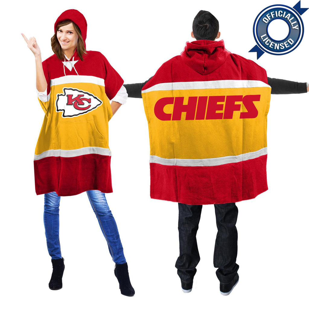 Officially Licensed Kansas City Chiefs Hoodie Scarf Poncho
