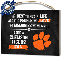 Officially Licensed Clemson Tigers People and Memories Plaque