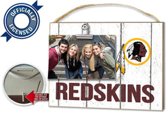 Officially Licensed Washington Redskins Weathered Logo Photo Frame