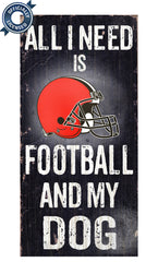 Officially Licensed Cleveland Football and Dog Sign