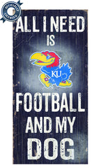 Officially Licensed Kansas Jayhawks and Dog Sign