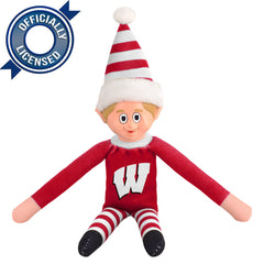 Limited Edition Wisconsin Badgers Plush Elf