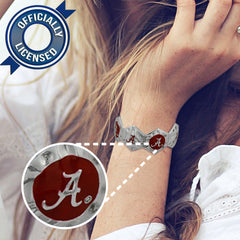 Officially Licensed Alabama Crimson Tide Stretch Bracelet