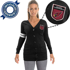 Officially Licensed Arizona Cardinals Cardigan