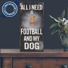 Officially Licensed Arizona State Sun Devils Football and Dog Sign
