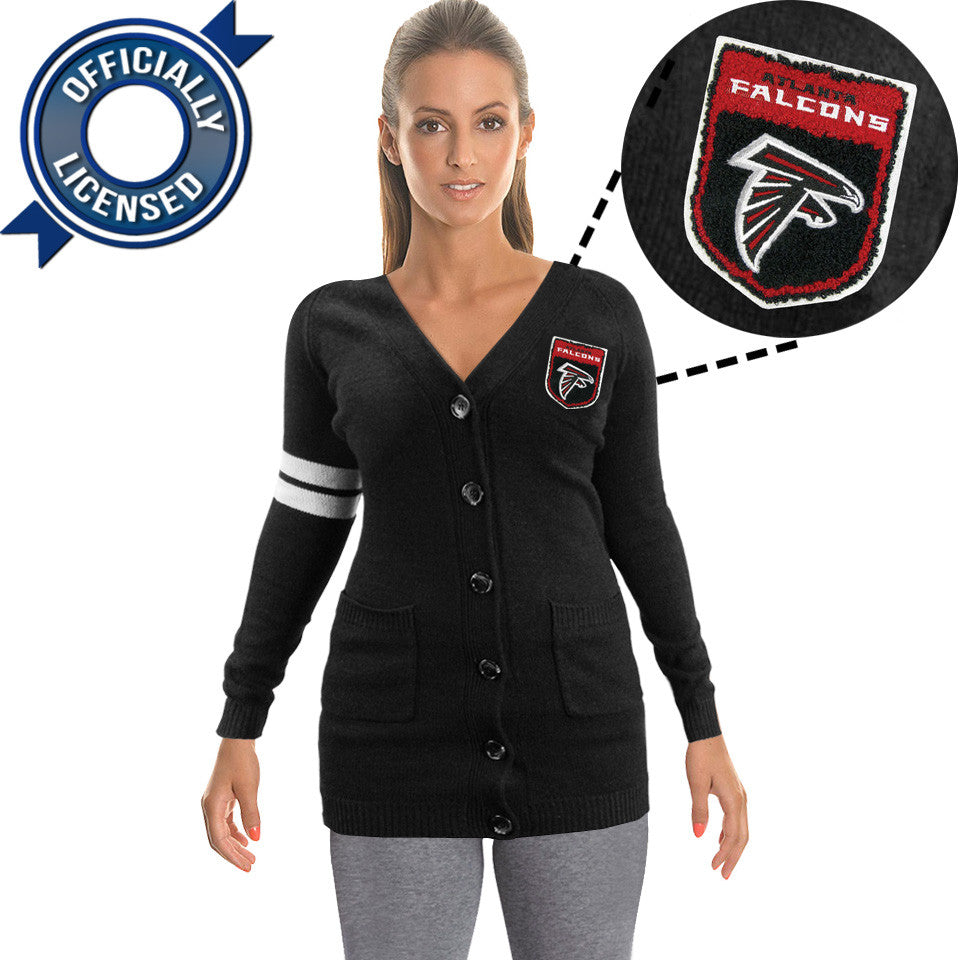 Officially Licensed Atlanta Falcons Cardigan