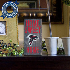 Officially Licensed Atlanta Football Home Sweet Home Sign