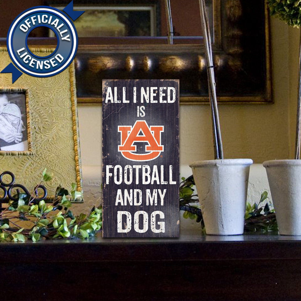 Officially Licensed Auburn Football and Dog Sign