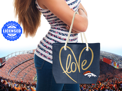 Just Released!  Officially Licensed Denver Broncos Rope Tote