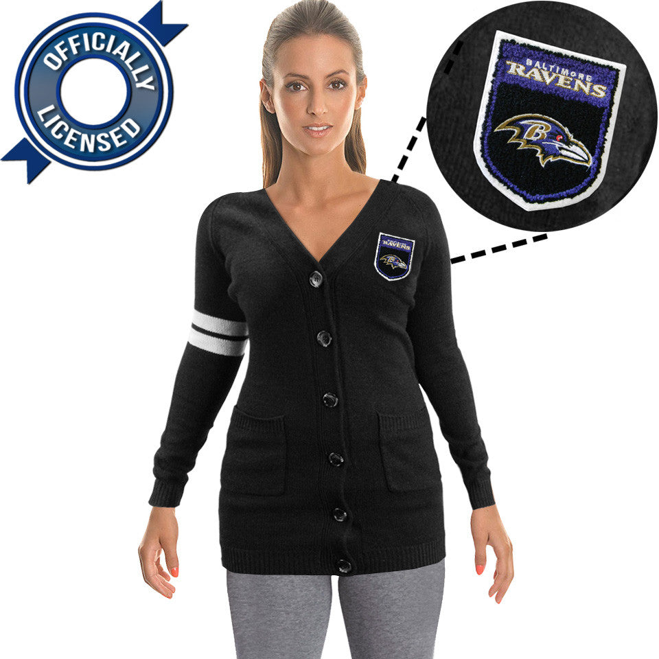 Officially Licensed Baltimore Ravens Cardigan