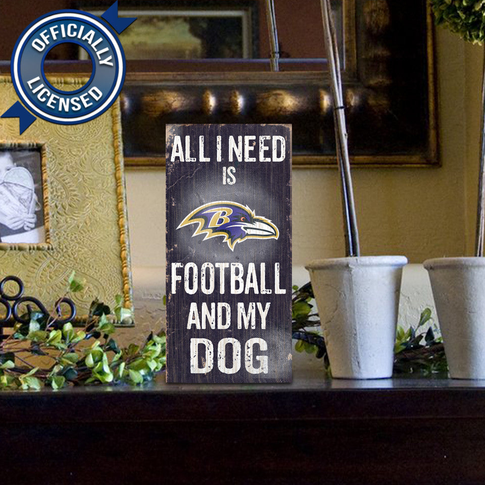 Officially Licensed Baltimore Football and Dog Sign