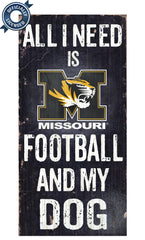 Officially Licensed Missouri Football and Dog Sign