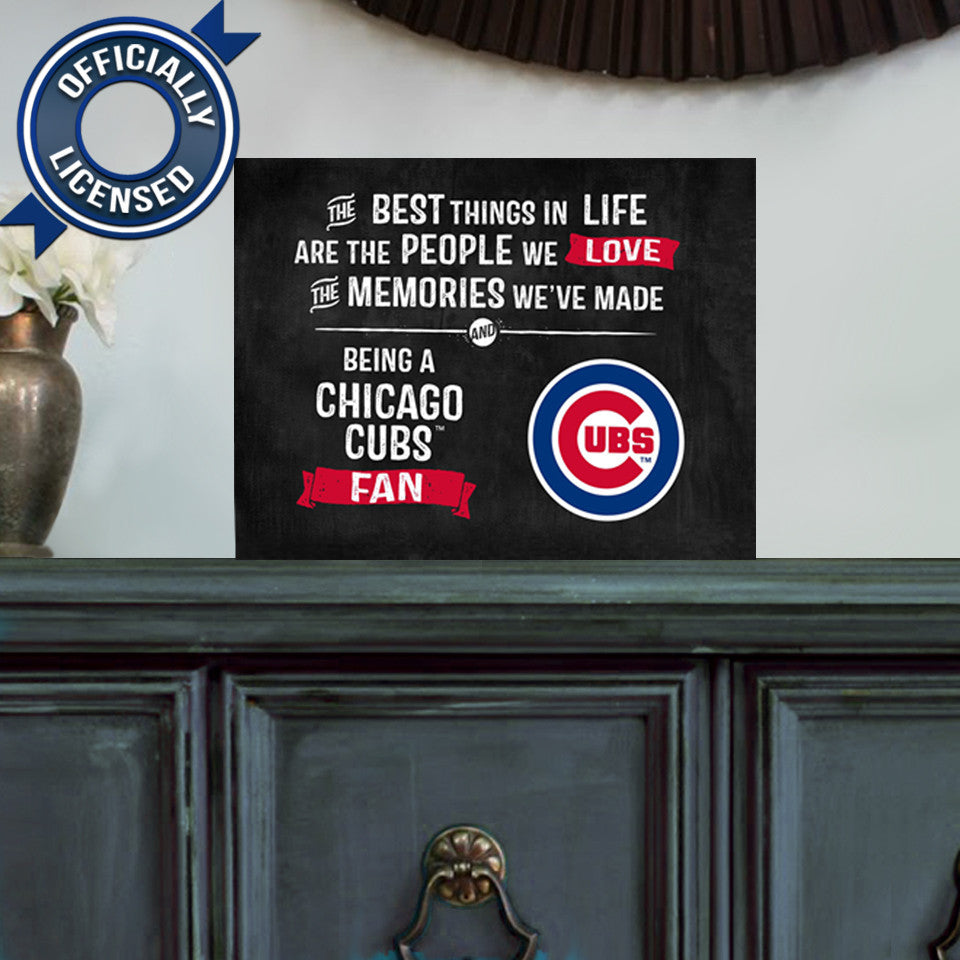 Officially Licensed Chicago Cubs People and Memories Plaque