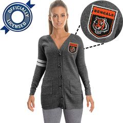 Officially Licensed Cincinnati Bengals Cardigan