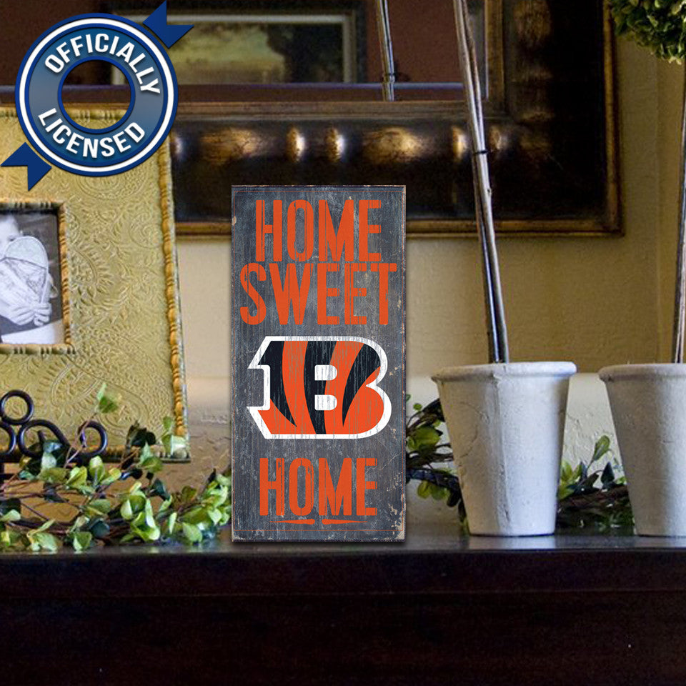 Officially Licensed Cincinnati Football Home Sweet Home Sign