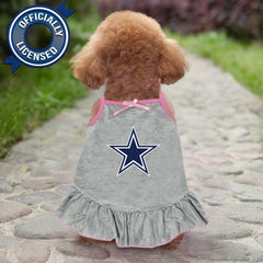 Officially Licensed Dallas Cowboys Pet Dress Gray